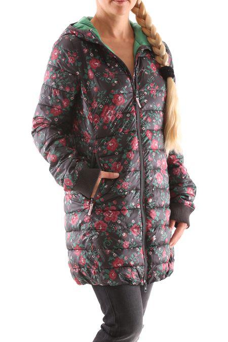 Blutsgeschwister Leichte Laune Long Jacket Damen Daunen Jacke Mantel – Bild 10