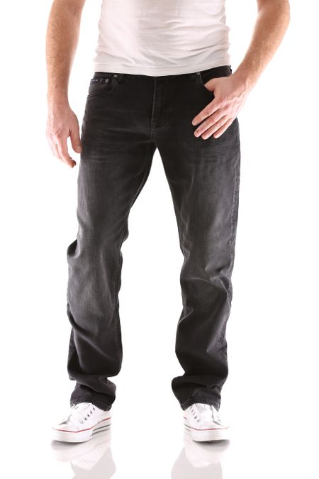 Big Seven Stanley Black Wash Regular Herren Jeans