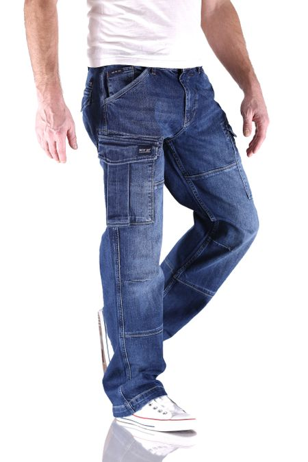 Big Seven Brian Night Blue Cargo Herren Jeans – Bild 2
