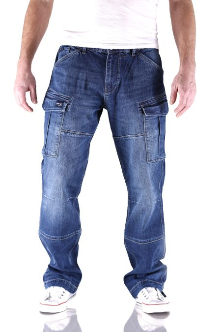 Big Seven Brian Night Blue Cargo Herren Jeans