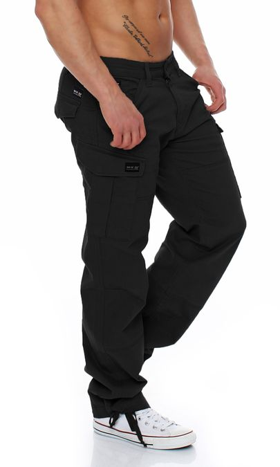 Big Seven Brian Cargo Hose Comfort Fit Herren Jeans schwarz – Bild 2