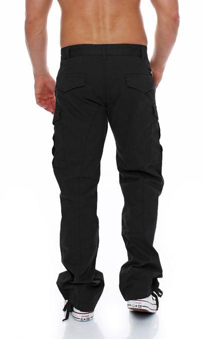 Big Seven Brian Cargo Hose Comfort Fit Herren Jeans schwarz – Bild 3