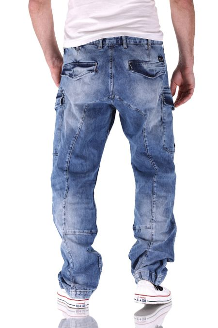 Big Seven Brian Medium Blue Cargo Herren Jeans – Bild 3