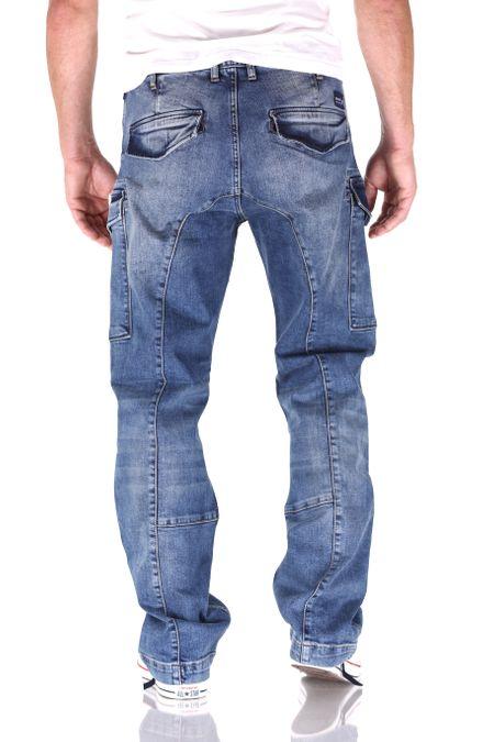 Big Seven Brian Vintage Aged Cargo Herren Jeans – Bild 3