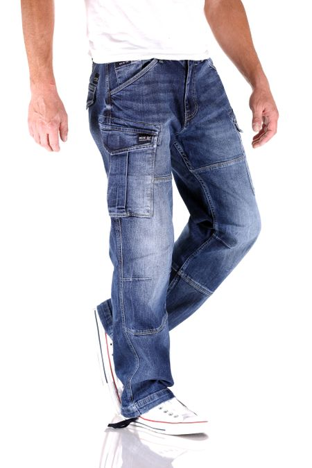 Big Seven Brian Graduate Blue Cargo Herren Jeans – Bild 2