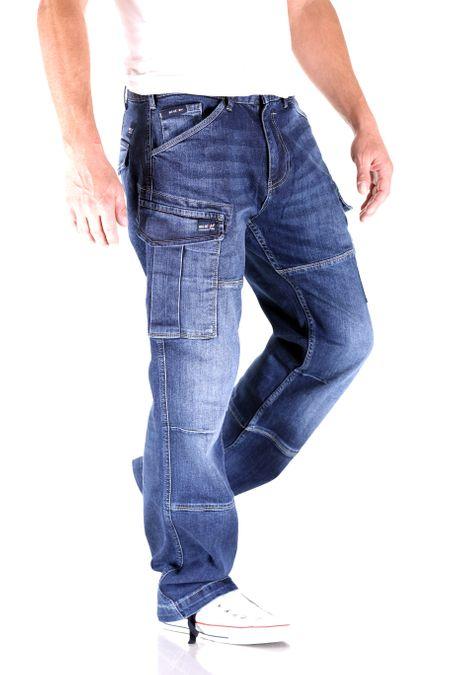 Big Seven Brian Dark Aged Cargo Herren Jeans – Bild 2