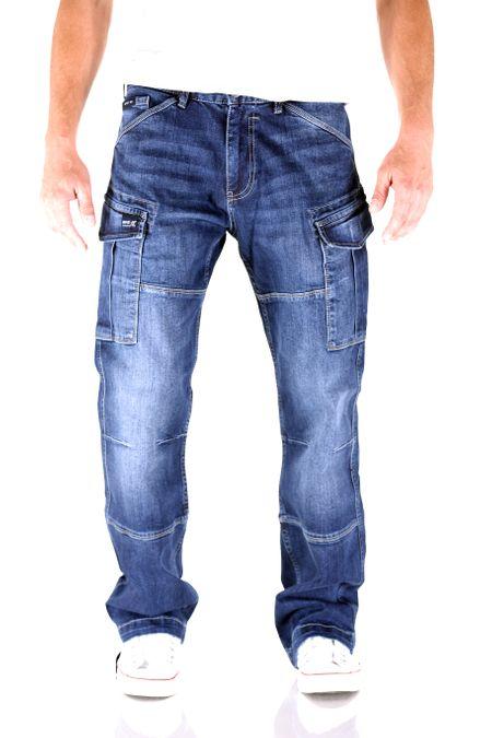 Big Seven Brian Dark Aged Cargo Herren Jeans – Bild 1