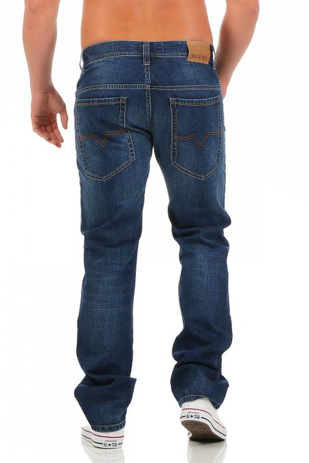 Big Seven Dan Atlanta Wash Regular Fit Herren Jeans – Bild 3
