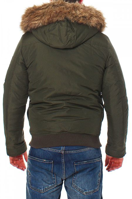 Jack & Jones Zone Bomber Jacket Forest Night Herren Winterjacke – Bild 3