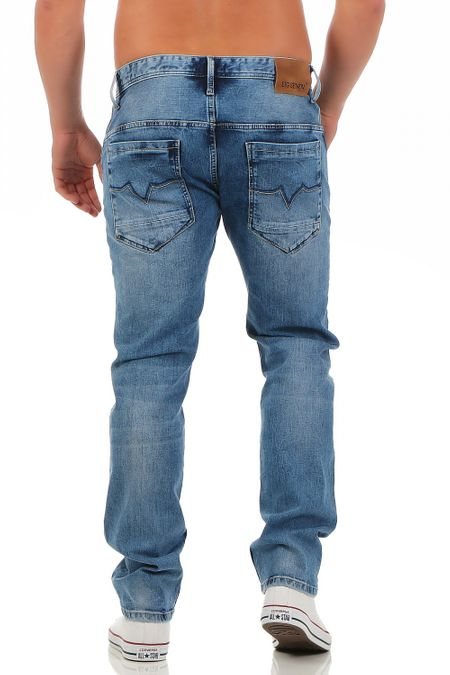 Big Seven Morris Medium Blue Regular Fit Herren Jeans – Bild 3