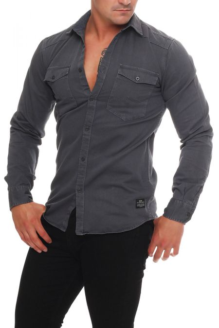 Jack & Jones Conix Shirt Two Pocket Herren Hemd – Bild 1