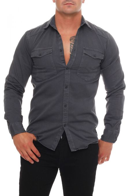 Jack & Jones Conix Shirt Two Pocket Herren Hemd – Bild 2