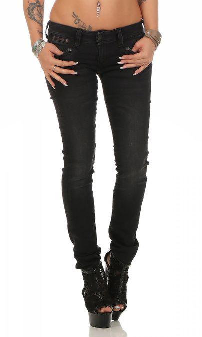 Herrlicher Piper Slim Black DB840 671 Damen Jeans – Bild 1