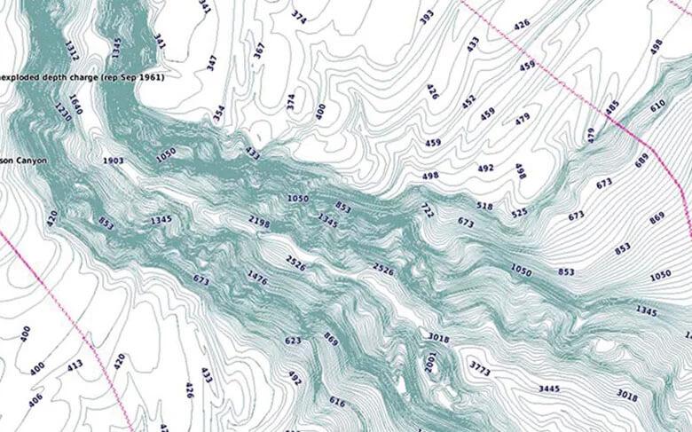Garmin BlueChart g3 elektronische Seekarten detaillierte Konturen