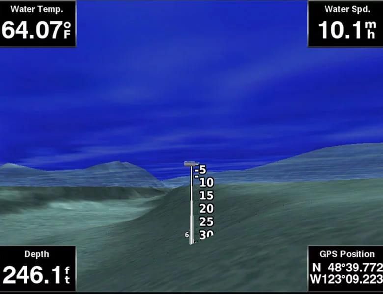 Garmin BlueChart g3 elektronische Seekarten Fisheye-Darstellung