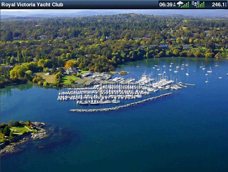 Garmin BlueChart g3 elektronische Seekarten Luftaufnahmen