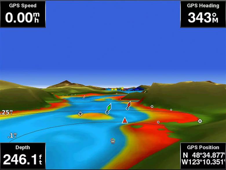 Garmin BlueChart g3 elektronische Seekarten Mariners-Eye Ansicht