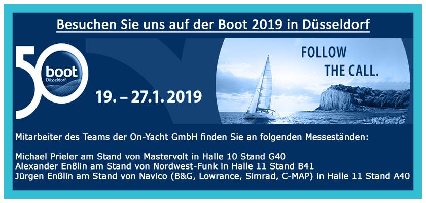 On Yacht GmbH - Besuchen Sie uns auf der Boot 2019