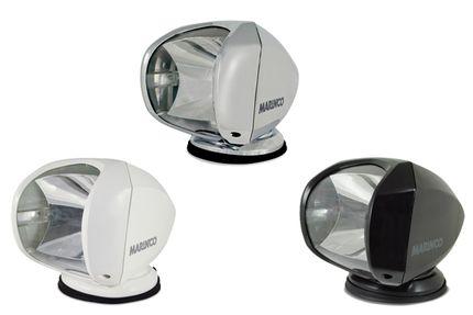 Suchscheinwerfer (verschiedene Gehäusefarben), 100 Watt, fernbedient