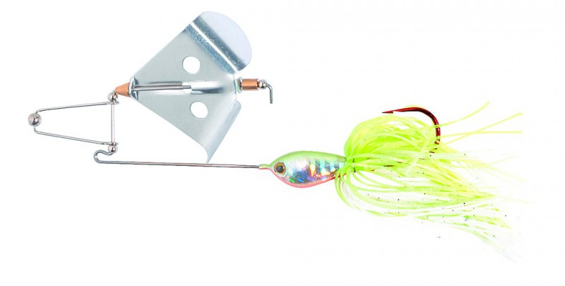 Buzzerbait Silver-Bell Chartreuse (Spinnerbait)