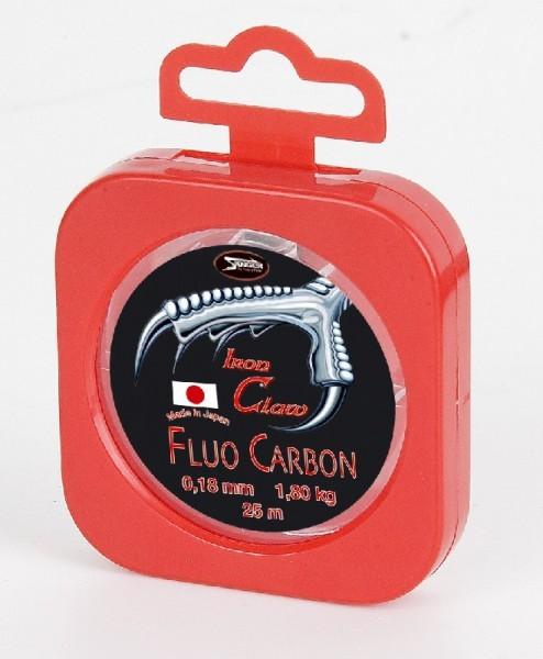 Iron Claw Fluo Carbon, 25m Spule, Stärke: 0,18 mm