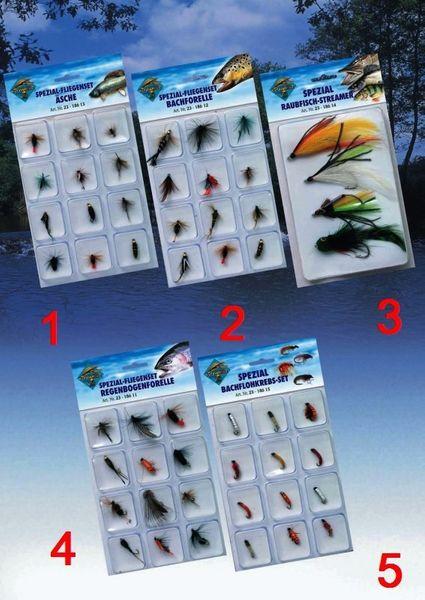 Spezialfliegen-Set Regenbogenforelle (12 Fliegen)