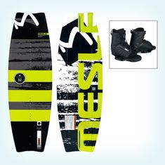 MESLE Wakeboard Flight 52 134 cm, with Core 2 Boots 001