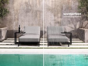 Wetterfeste DIVANO Gartenmöbel durch Quick Dry Foam