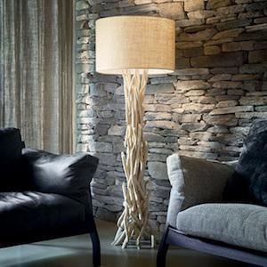 Stehlampe Holz