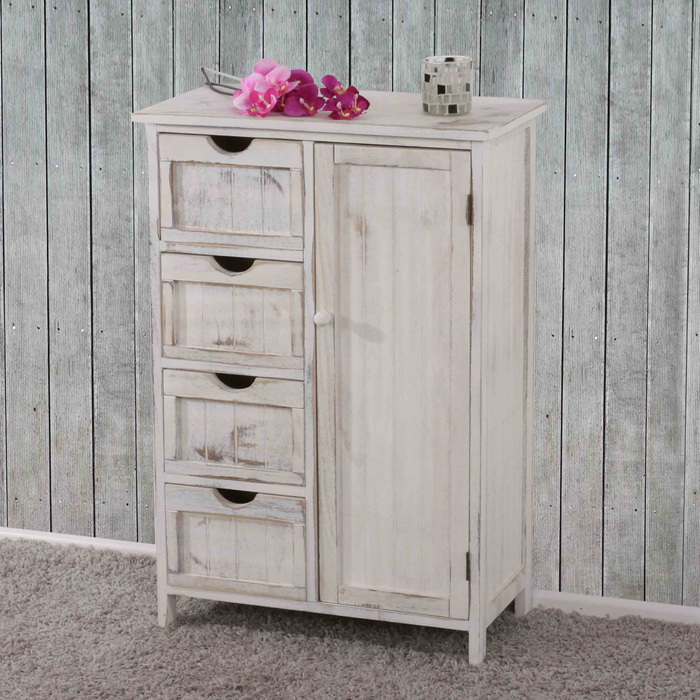 kommode shabby look vintage weiss shabby vintage m bel. Black Bedroom Furniture Sets. Home Design Ideas
