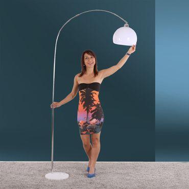 Reality|Trio Bogenlampe Stehlampe Höhe: 150 - 210cm Schirm: 30cm – weiss – Bild 4