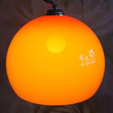 Bogenlampe Stehlampe, chrom – orange, 180cm – Bild 3