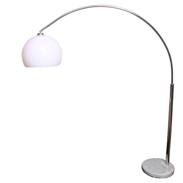 Reality|Trio Bogenlampe höhenverstellbar, Schirm: 40cm – weiss