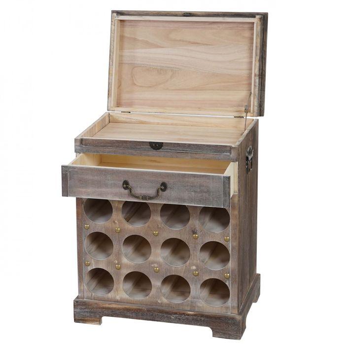 weinregal flaschenregal regal f r 12 flaschen 60x48x31cm. Black Bedroom Furniture Sets. Home Design Ideas