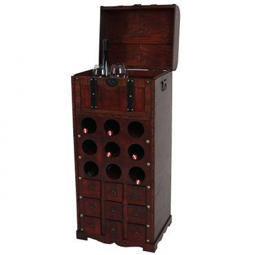 Weinregal, Flaschenregal für 9 Flaschen Kolonialstil  – Bild 2