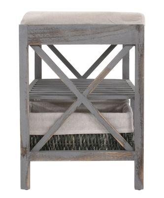 Schuhregal Sitzbank Shabby-Look, Vintage – grau - 10118 – Bild 3