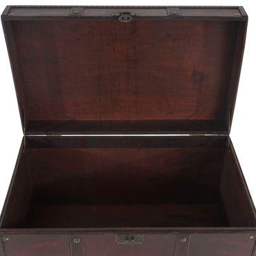 Holztruhe Holzbox Schatztruhe Antikoptik - 10159 – Bild 4
