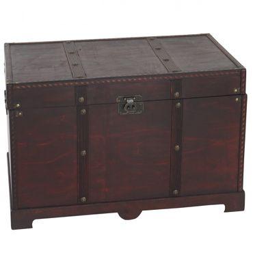 Holztruhe Holzbox Schatztruhe Antikoptik  – Bild 2