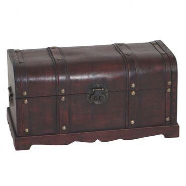 Holztruhe Holzbox Schatztruhe Antikoptik - 10163 – Bild 2