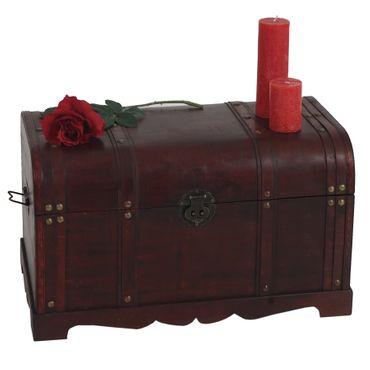 Holztruhe Holzbox Schatztruhe Antikoptik  – Bild 1