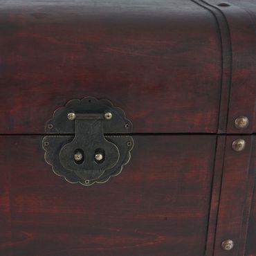 Holztruhe Holzbox Schatztruhe Antikoptik  – Bild 5
