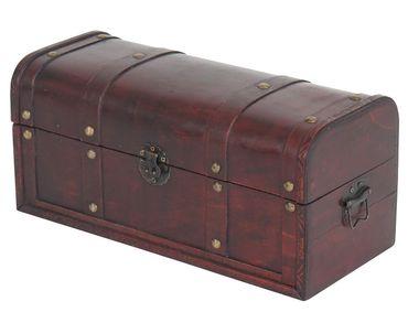 Holztruhe Holzbox Schatztruhe Antikoptik  – Bild 6