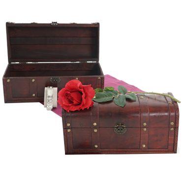 2er Set Holztruhe Geschenkbox Holzbox Schatztruhe  – Bild 1