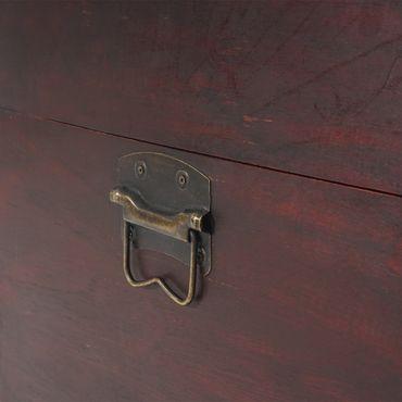 2er Set Holztruhe Geschenkbox Holzbox Schatztruhe  – Bild 7