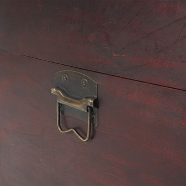 2er Set Holztruhe Geschenkbox Holzbox Schatztruhe  – Bild 3