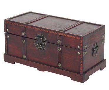 2er Set Holztruhe Geschenkbox Holzbox Schatztruhe - 10167 – Bild 5