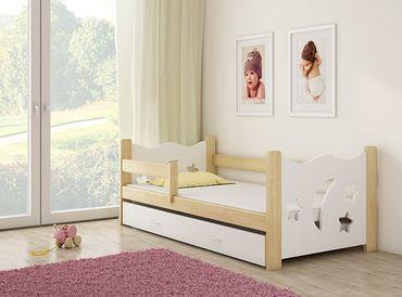 Kinderbett Jugendbett Holzbett 80x160cm, inkl. Schublade – Bild 1