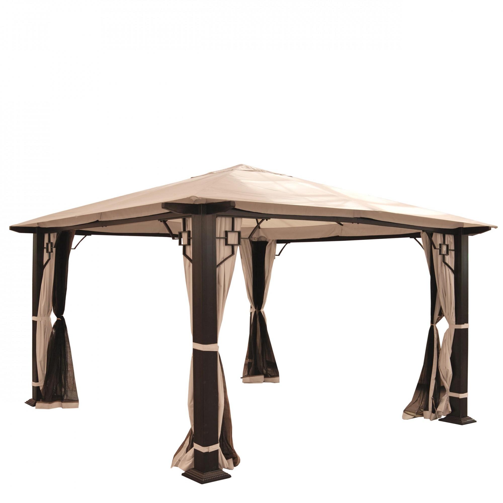 pergola gartenpavillon 12cm luxus alu gestell mit. Black Bedroom Furniture Sets. Home Design Ideas
