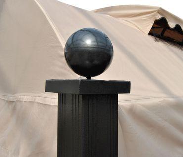 Pergola Gartenpavillon, 10cm Luxus-Alu-Gestell mit Seitenwand + Moskitonetz  – Bild 4