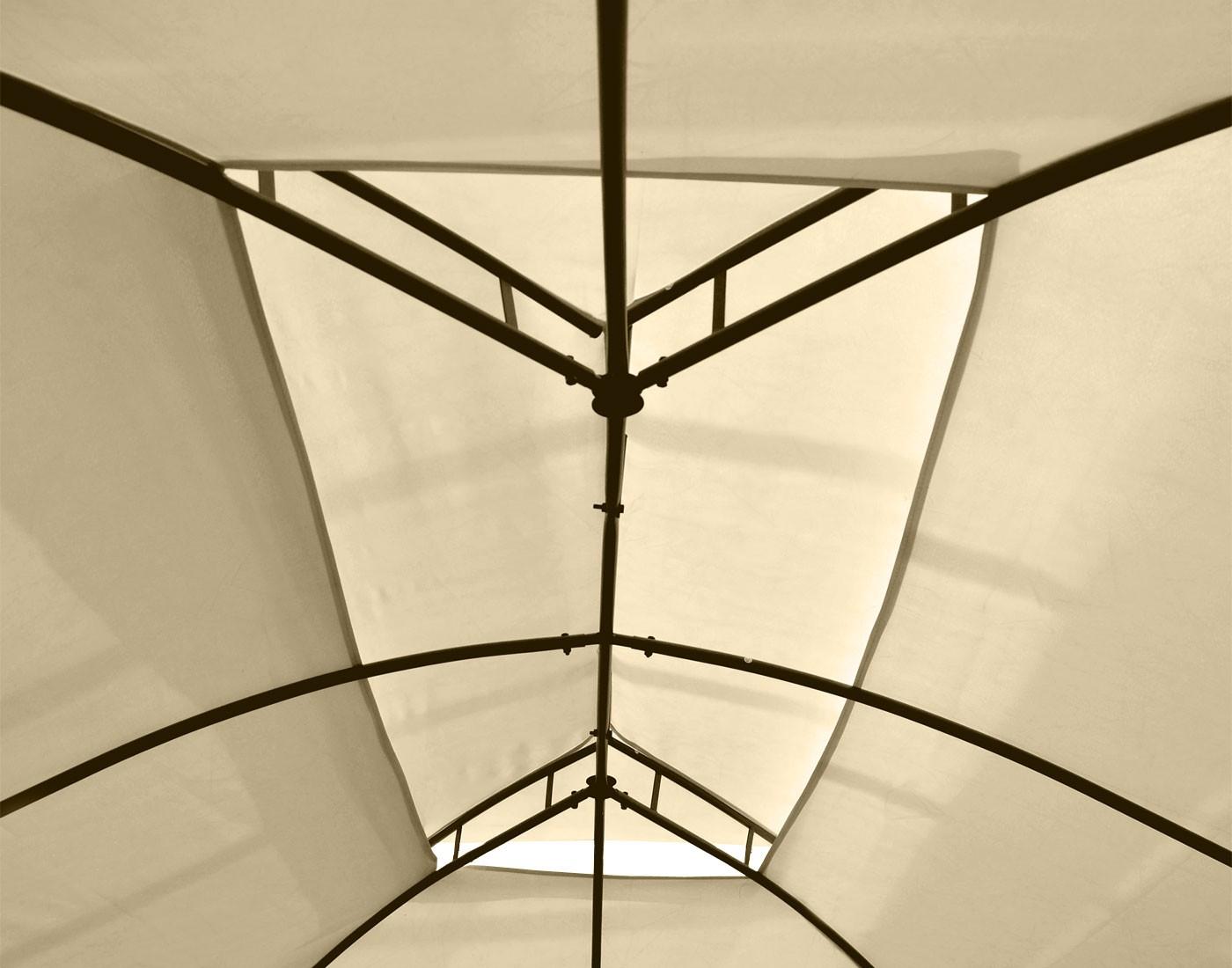 pergola garten pavillon 4cm stahl gestell mit seitenwand. Black Bedroom Furniture Sets. Home Design Ideas